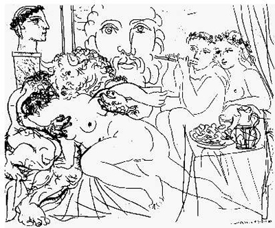 400x332 Pablo Picasso Drawings