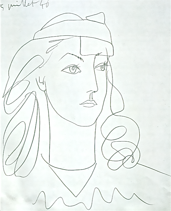 559x688 Picasso Drawing
