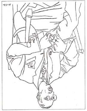 291x370 Drawing Picasso Upside Down