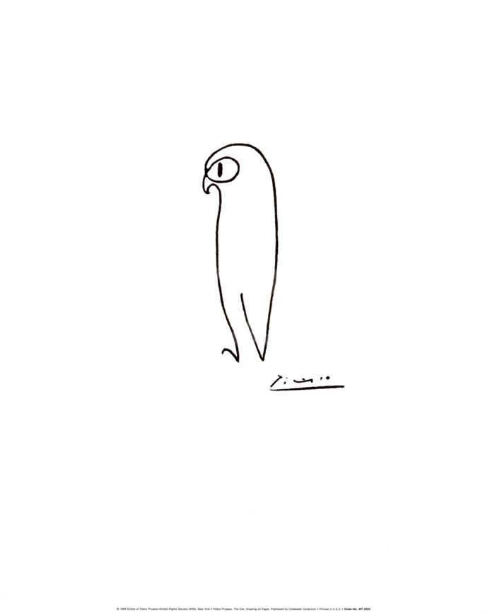 693x865 Owl Art Print By Pablo Picasso