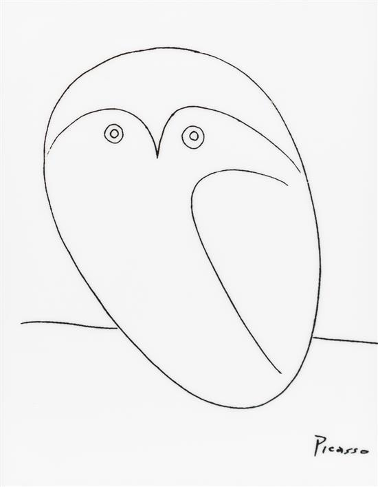 550x707 After Pablo Picasso, (Spanish, 1881 1973), Owl
