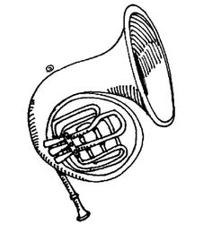 236x269 English Horn Coloring Page Embroidery Horn
