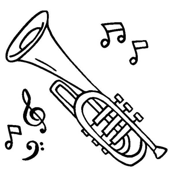 600x600 Baritone Coloring Pages Flute Coloring Page