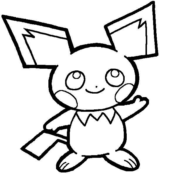 600x600 pichu drawing coloring page color luna