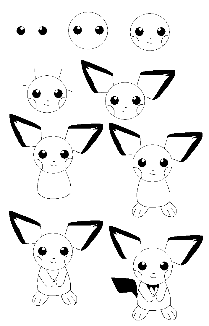 707x1103 How To Draw Pichu By Timmy Gost