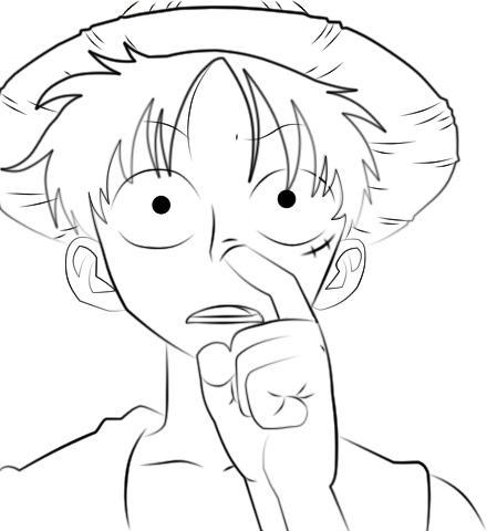 449x480 How To Pick Your Nose By Luffy Bye Piece Fanclub