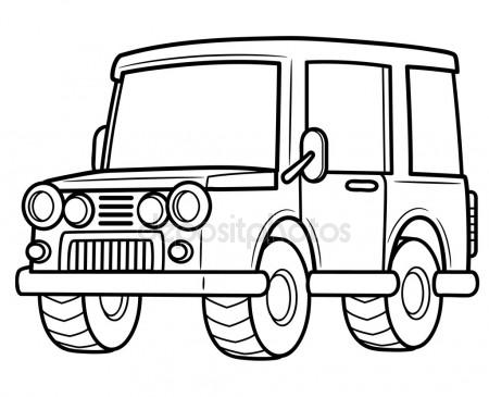 450x365 Pickup Truck Outline Set On White Background Drawing Vector