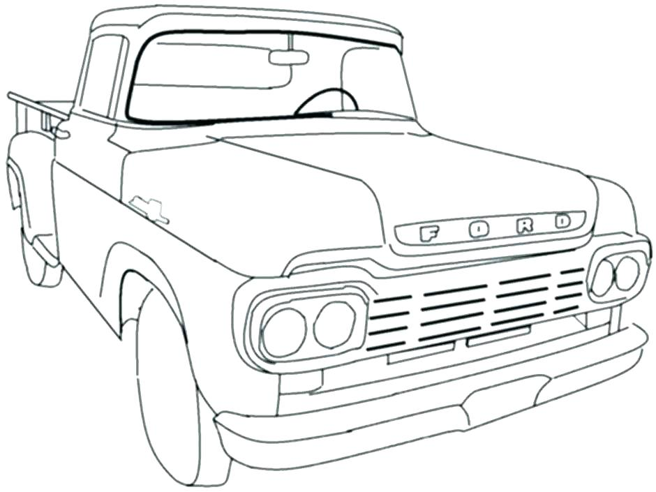 940x705 Pickup Truck Coloring Pages
