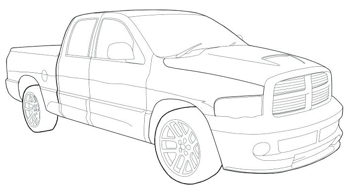 700x384 Dodge Truck Coloring Pages Coloring Pages Free Download Fire Truck