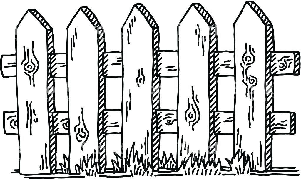 Picket Fence Drawing at GetDrawings | Free download