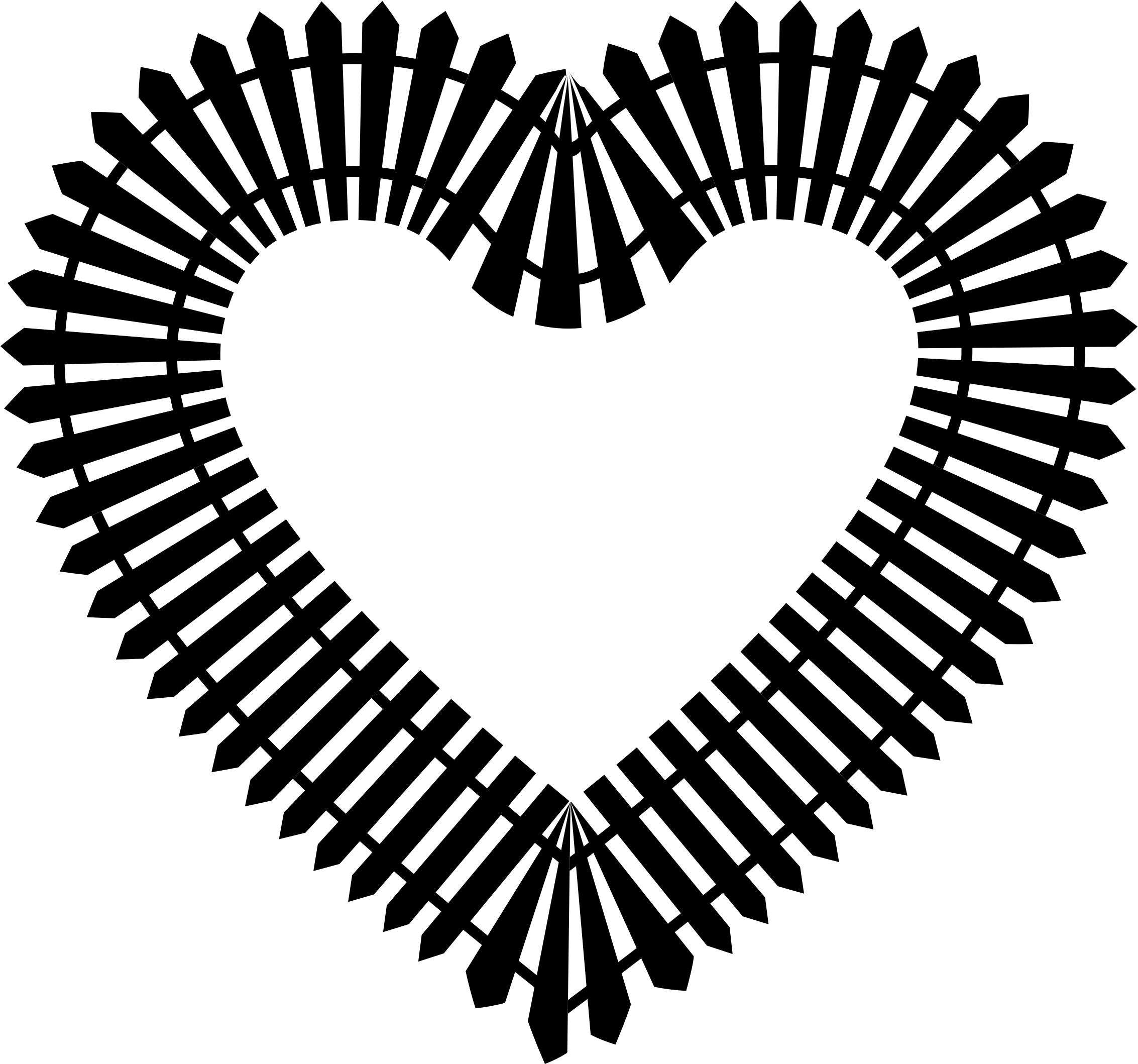 2266x2118 Picket Fence Heart Icons Png