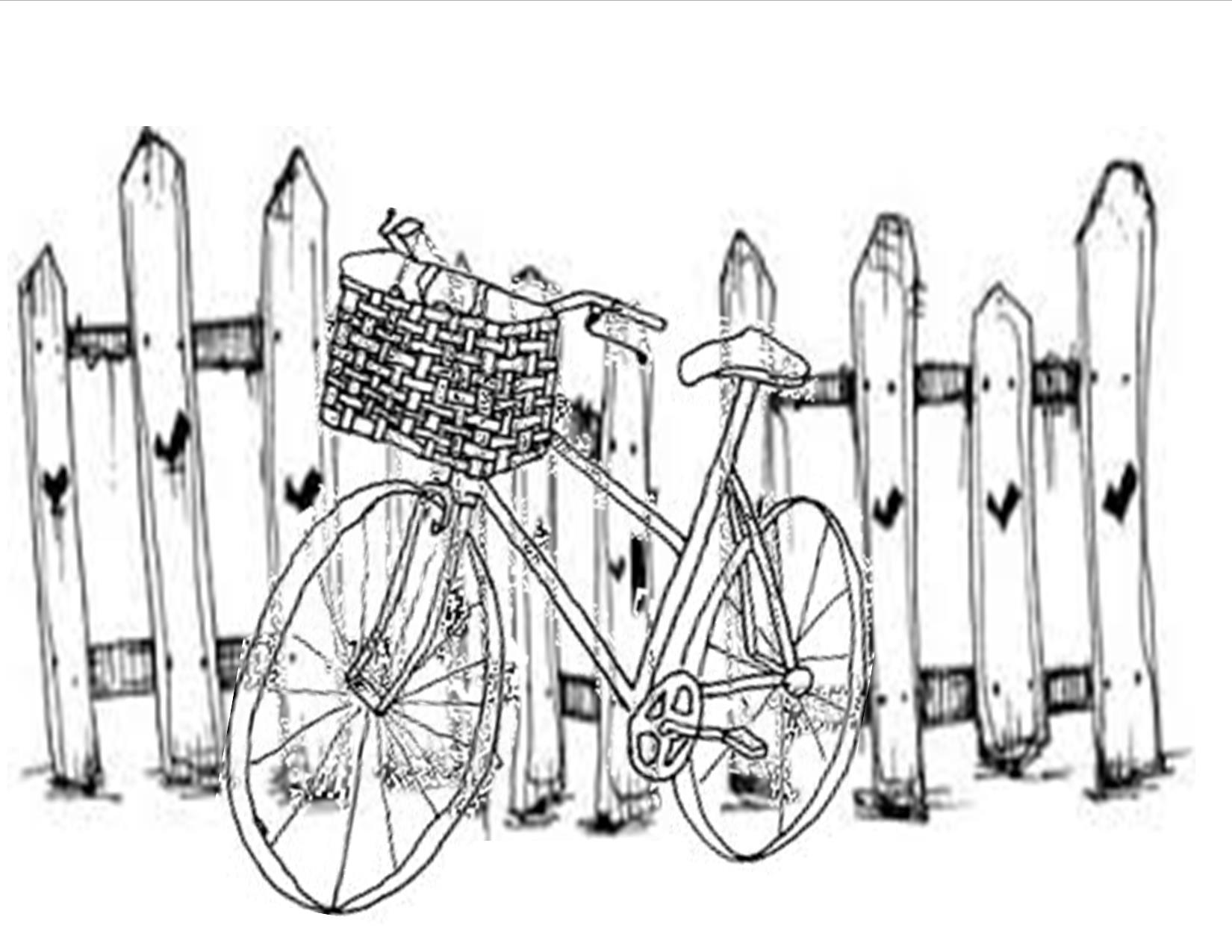 1650x1275 Bicycle And Picket Fence Watercolor Class Watercolor