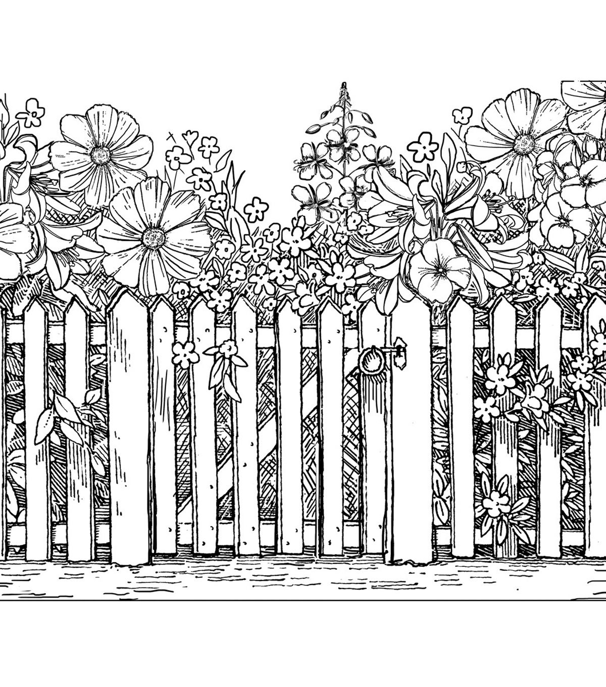 It's just a picture of Juicy Picket Fence Drawing