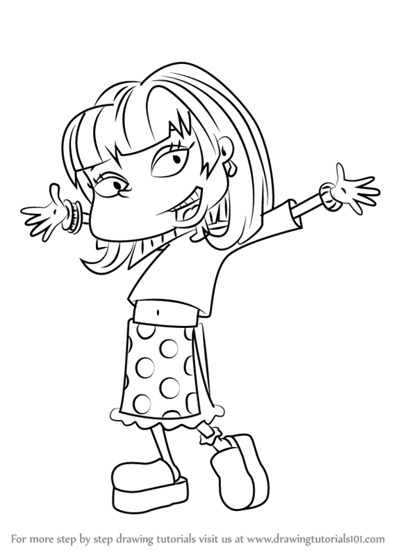 567x800 Learn How To Draw Angelica Pickles From All Grown Up! (All Grown