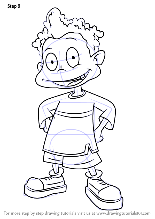 600x846 Learn How To Draw Dil Pickles From All Grown Up! (All Grown Up