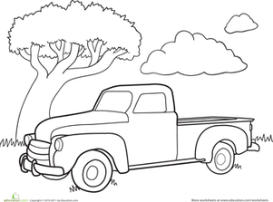 301x223 Finish The Truck Drawing Worksheet