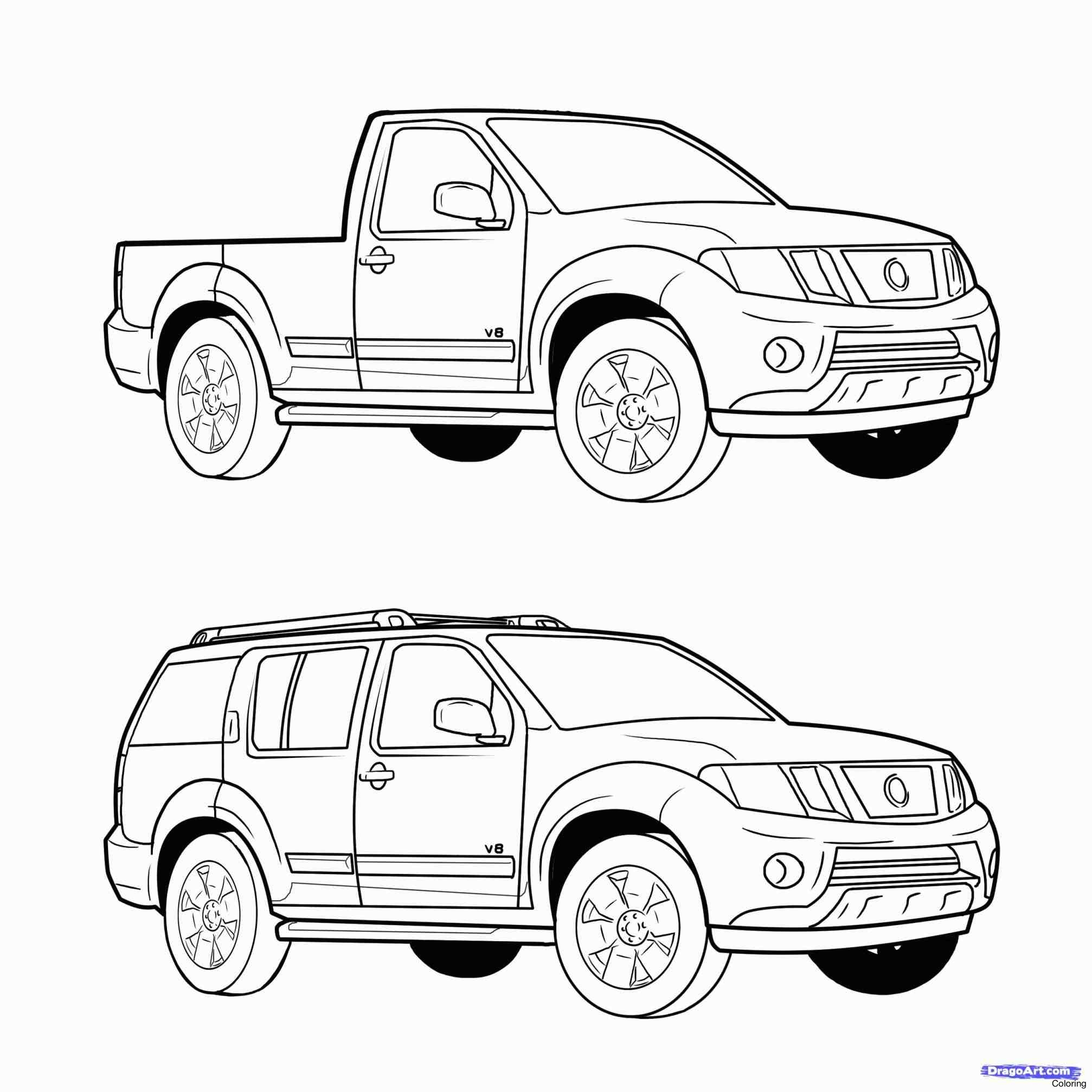 2014x2014 How To Draw Ford F 150 Truck Step By A Coloring Printable Drawing