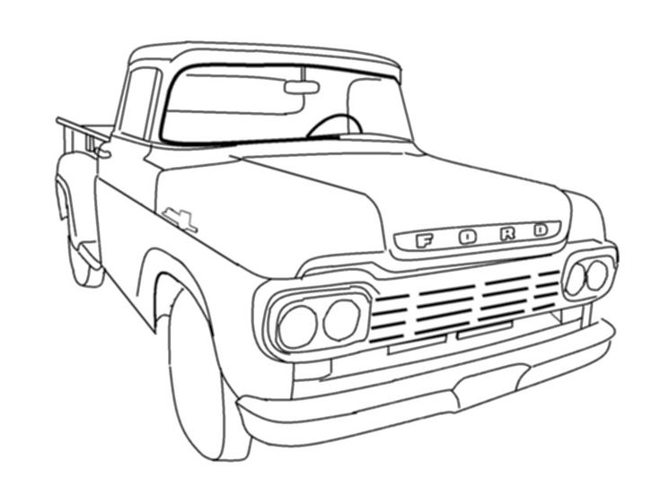 pickup truck drawing at getdrawings com
