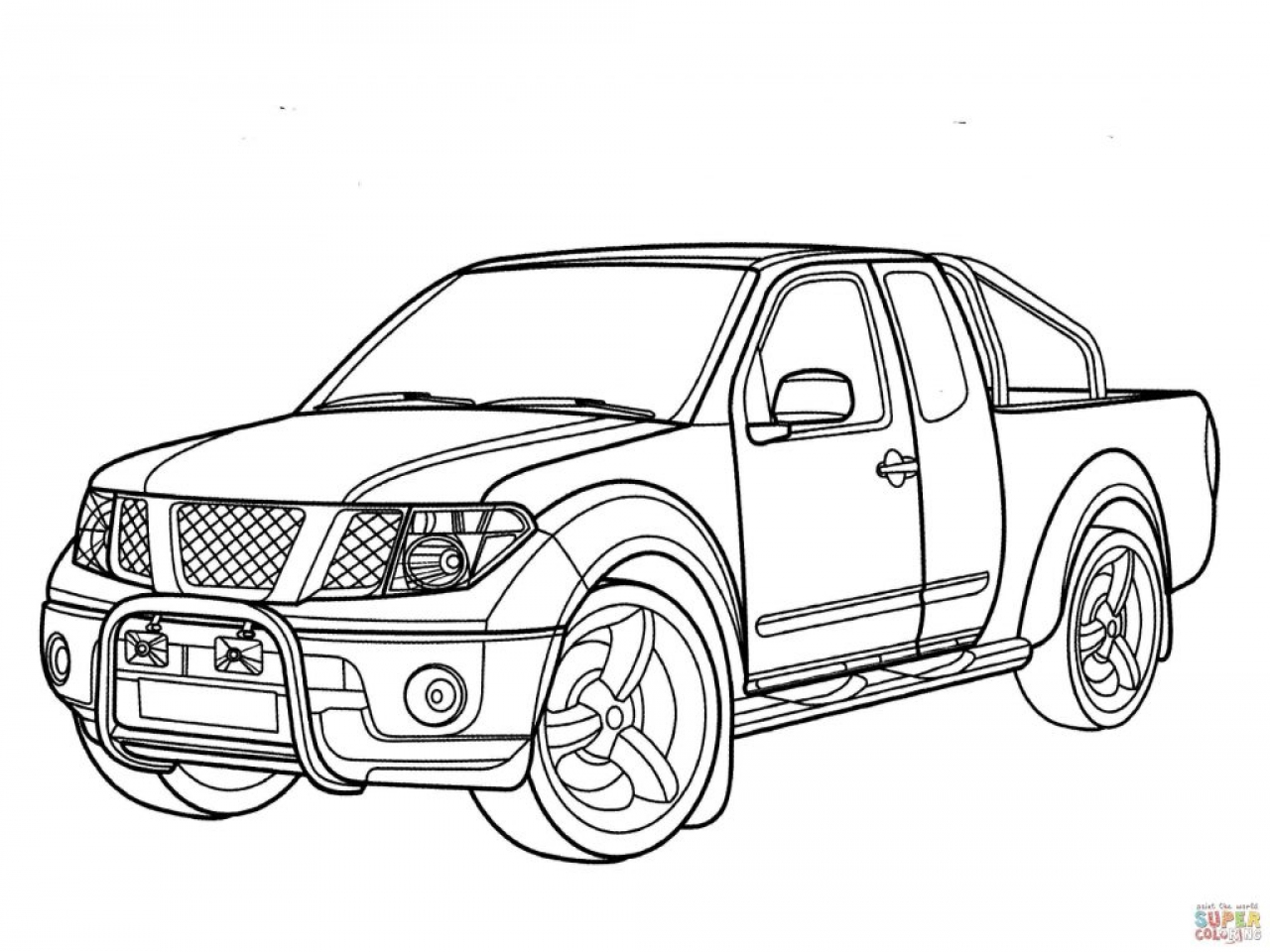 pickup truck drawing at getdrawings free for personal use Road Runner 4x4 1280x960 4x4 truck coloring pages nissan navara page transportation pickup