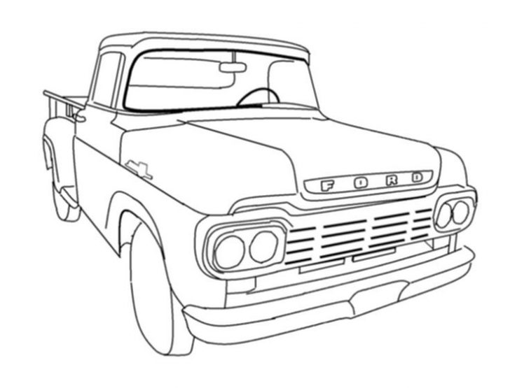 Pickup Truck Outline Drawing at GetDrawings.com | Free for ...