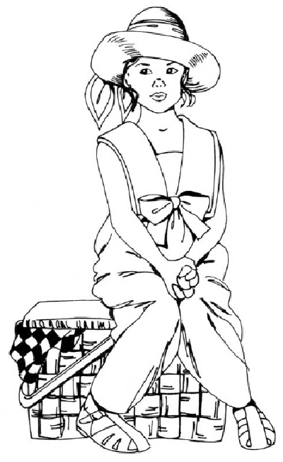 400x651 How To Draw People Girl With A Picnic Basket Howstuffworks