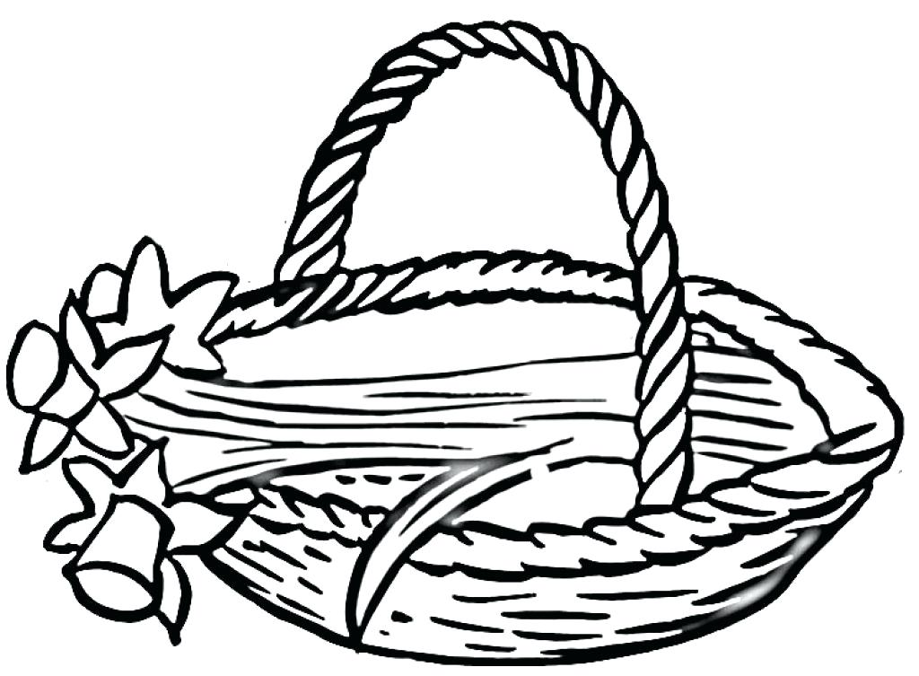 1024x753 Basket Coloring Page Click To See Printable Version Of Picnic