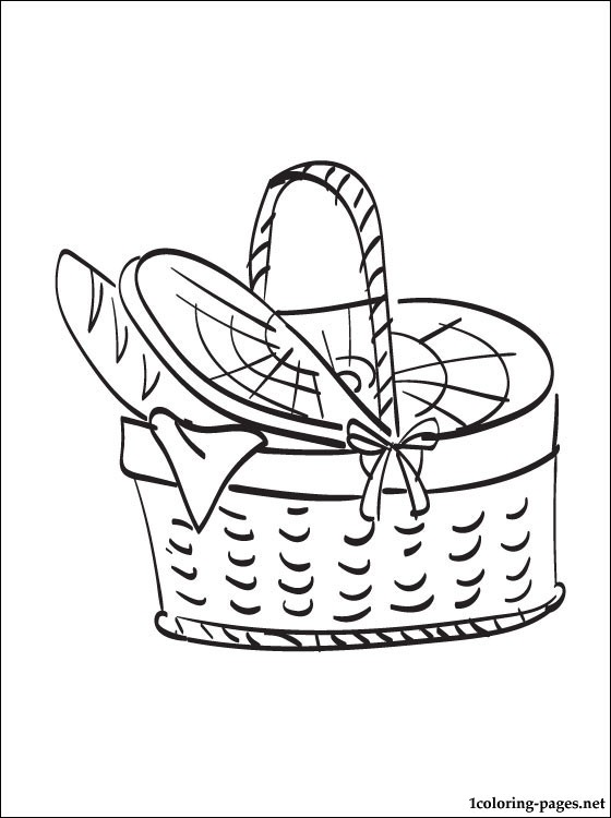 560x750 Picnic Basket Coloring Page Coloring Pages