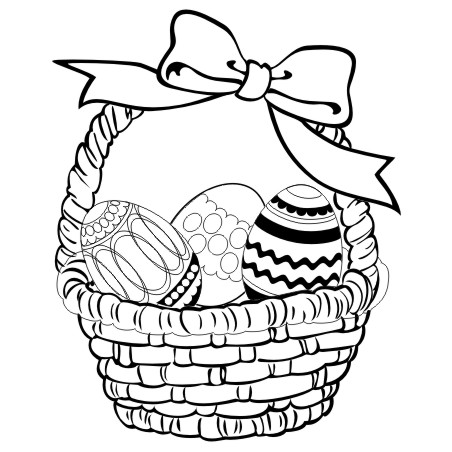 452x452 Strong Easter Drawing Ideas Egg Coloring Pages Big Basket