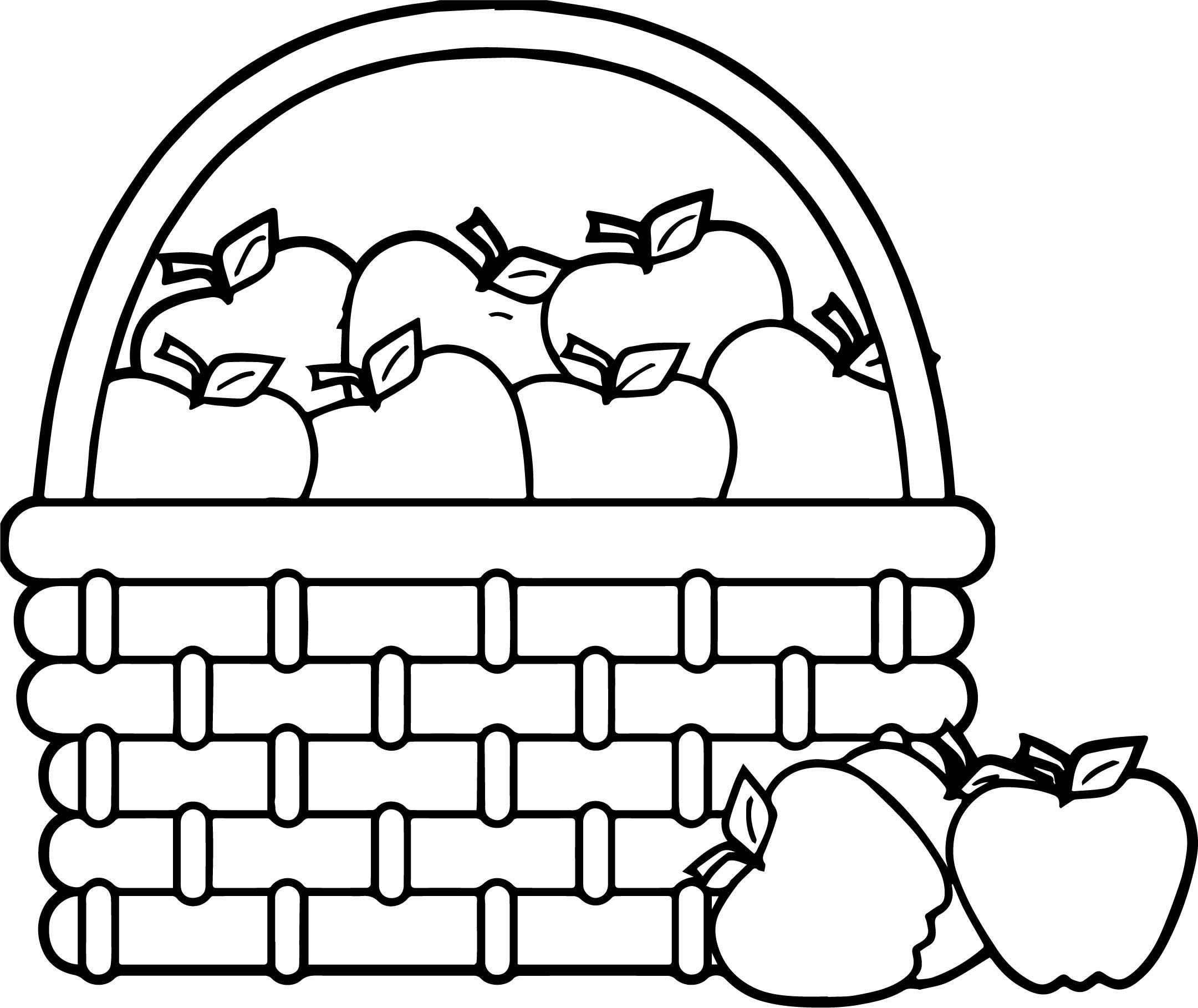 2161x1818 Apple Basket Coloring Page Coloring Page For Kids