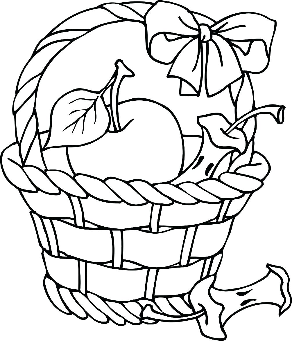 1005x1175 Template Picnic Basket Template Free Apple Coloring Pages