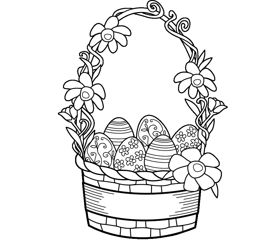 905x798 Colour Drawing Free Wallpaper Easter Basket Coloring Drawing Free