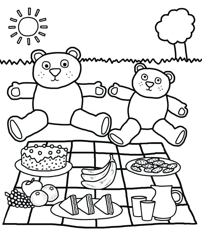 671x797 Picnic Coloring Pages Picnic Basket Coloring Pages Picnic Basket