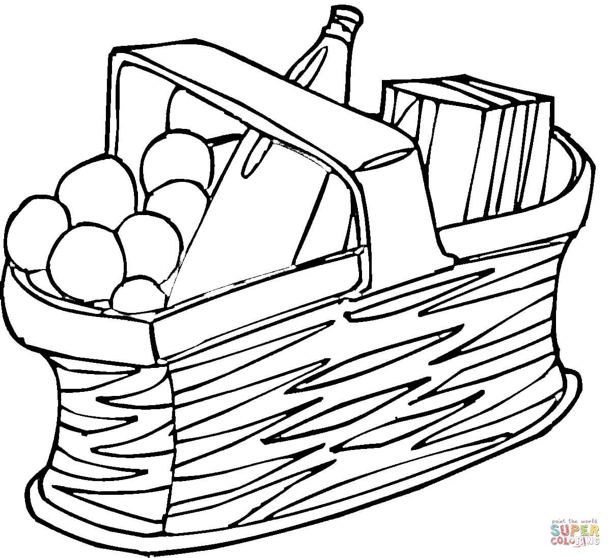 1200x1095 Picnic Coloring Pages Free Coloring Pages