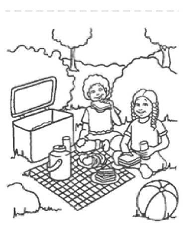370x480 Preschool Picnic Coloring Pages Preschool Picnics