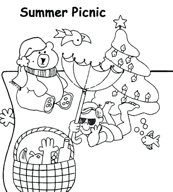 600x666 Picnic Coloring Page Synthesis.site