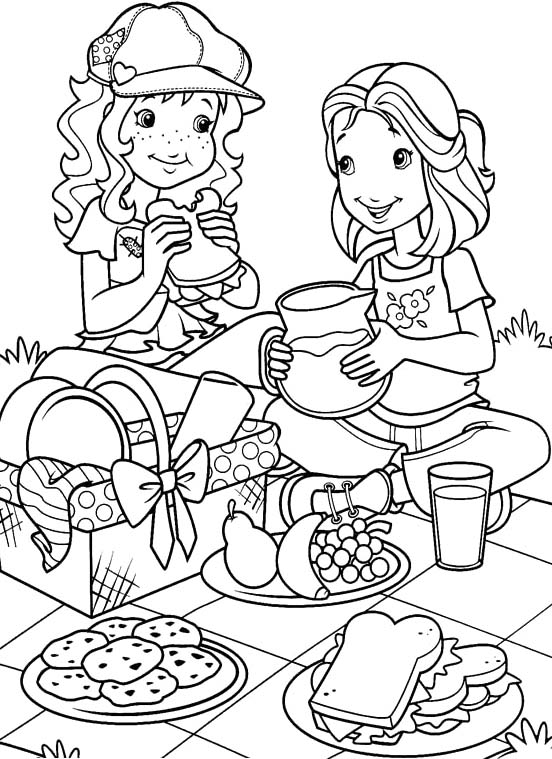 552x759 Holly Hobbie Picnic With Amy Coloring Pages