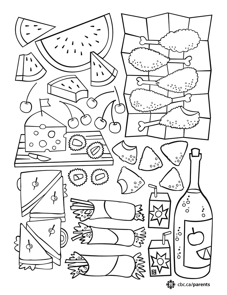 750x971 Picnic Colouring Printable Take A Break And Colour Together