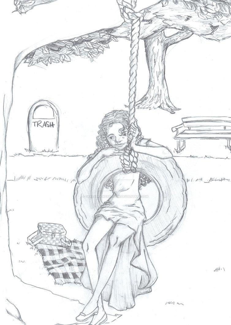 754x1060 Picnic Pencil Sketch By Crazydrawerperson