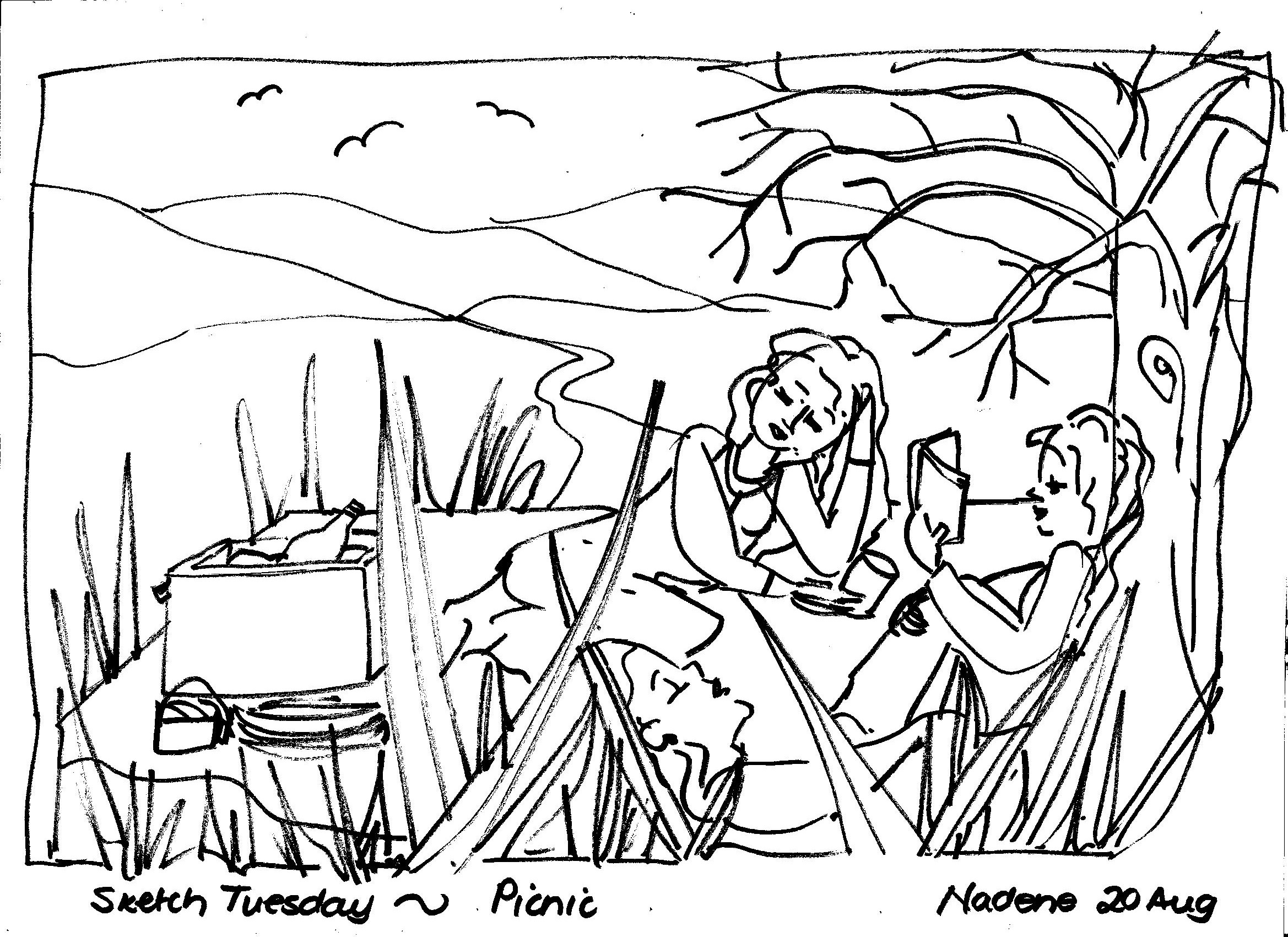 2338x1700 Sketch Tuesday ~ Picnic Amp Camping Practical Pages