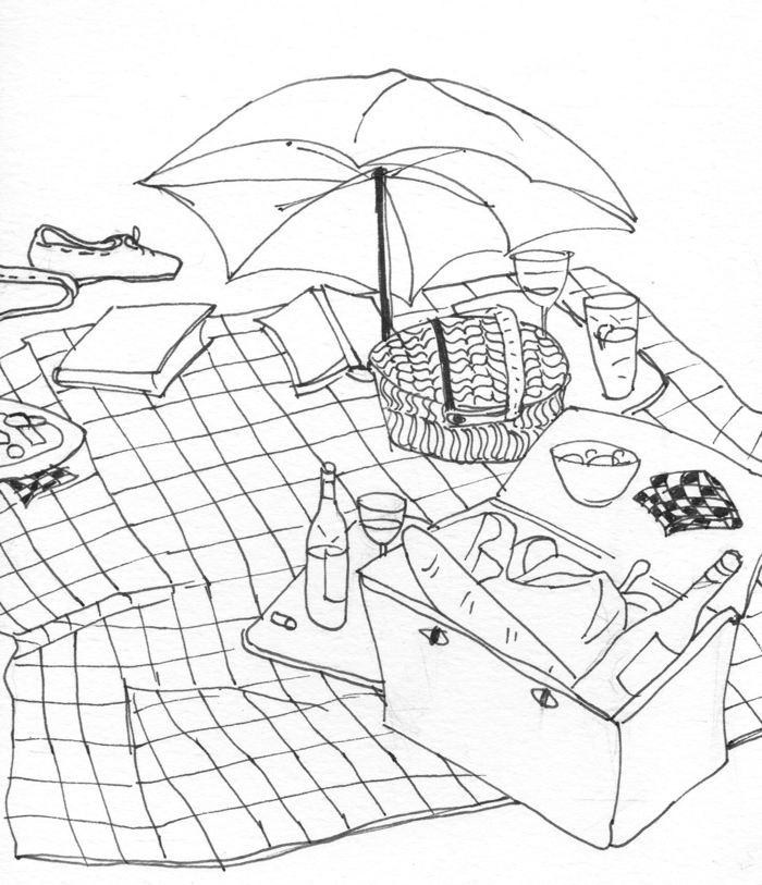 700x813 Picnic Drawing Recent Artwork By Jessie Dodington