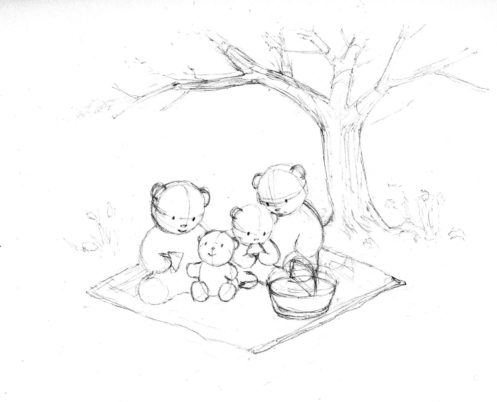 1681x1359 Color Study For Picnic Bears Jasmine Ray