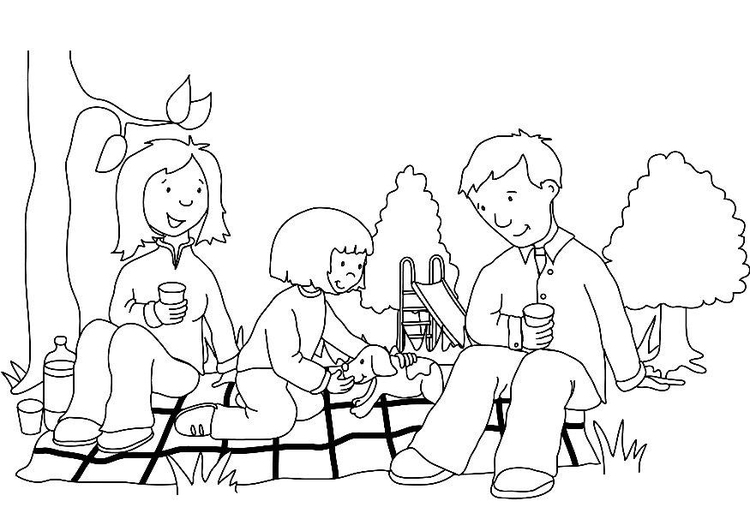 750x531 Coloring Page Picnic
