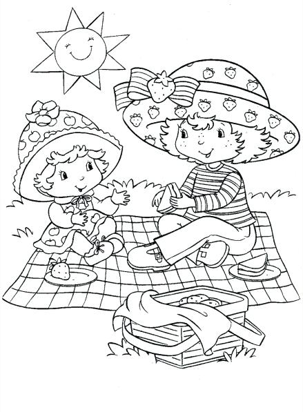 439x597 Strawberry Shortcake Coloring Books Free Printable Strawberry