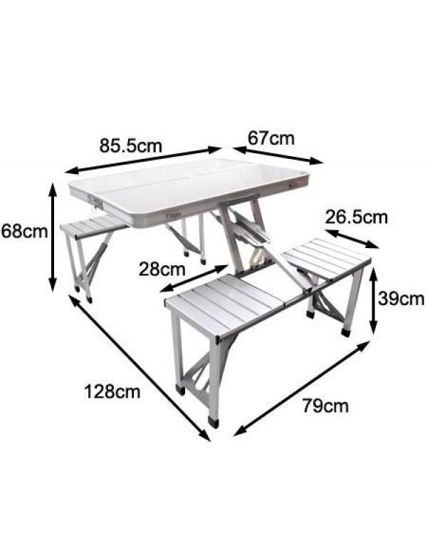 600x780 Aluminum Folding Picnic Table, P434