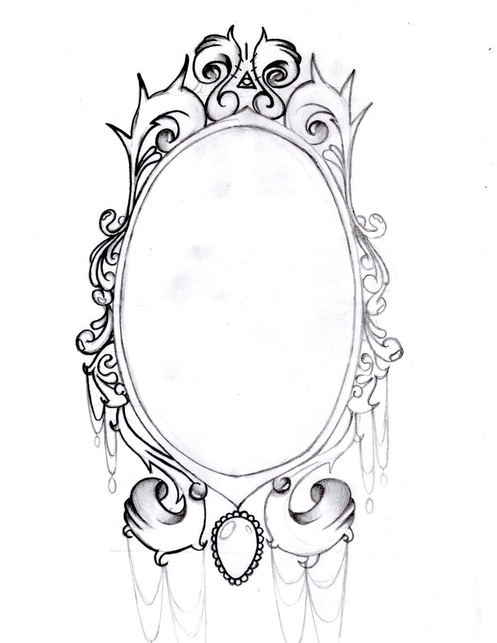 1024x1325 Best Black Frame Tattoo Stencil By Dino
