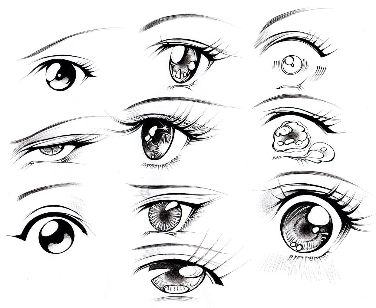 1242x1018 How To Draw Female Eyes (Part 2) Manga University Campus Store