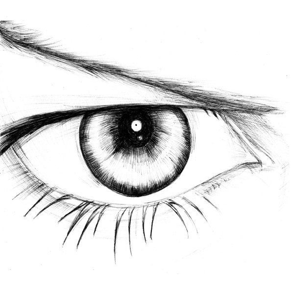 600x600 Funny Pictures Eye Drawing Simple For Female Eye
