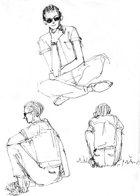 453x633 Sketchbook Exercise Draw 3 Versions Of Someone Sitting Art