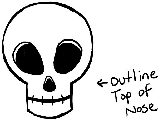 600x456 How To Draw Silly Cartoon Skulls Halloween Easy Tutorial