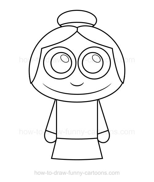 500x591 How To Draw A Grandma